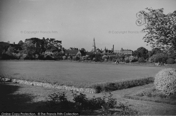Photo of Market Harborough, View From Welland Park c.1955