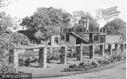 Market Harborough, Welland Park, Rose Garden And Pavilion c.1960