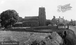 St Thomas Church From Caistor Road c.1955, Market Rasen