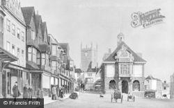 Marlborough, High Street And Town Hall c.1902
