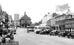 Marlborough, Town Hall And High Street c.1950