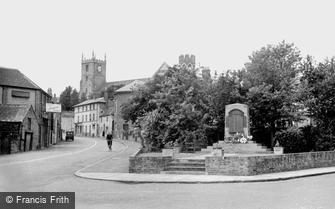 Marlborough, War Memorial and St Peter's Church c1950