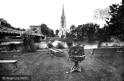 Marlow, All Saints Church And Bridge 1890