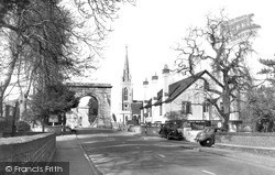 Marlow, All Saints Church And Bridge c.1955
