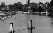 Marlow, All Saints' Church From The Lock c.1955