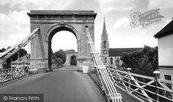 Marlow, Bridge And All Saints Church c.1955