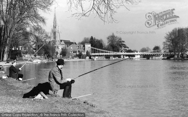 Photo of Marlow, Fishermen c.1955