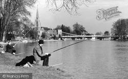 Marlow, Fishermen c1955