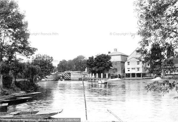 Marlow,Mills and Lock 1890,Buckinghamshire