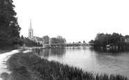 Marlow, the Bridge and Parish Church 1893
