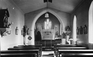 Marnhull, Roman Catholic Church interior c1955