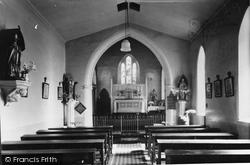Marnhull, Roman Catholic Church Interior c.1955