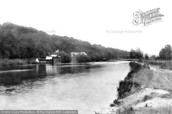 Marsh Lock,from below Mills 1890,Oxfordshire
