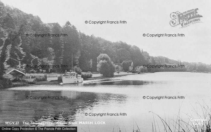 Photo of Marsh Lock, The Thames Downstream c.1955