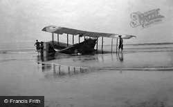 Marske-By-The-Sea, Aeroplane On The Sands c.1920