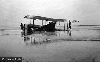 Marske-by-the-Sea, Aeroplane on the Sands c1920