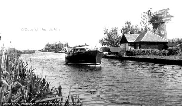 Martham,the Old Mill and Riverside Bungalows c1960,Norfolk