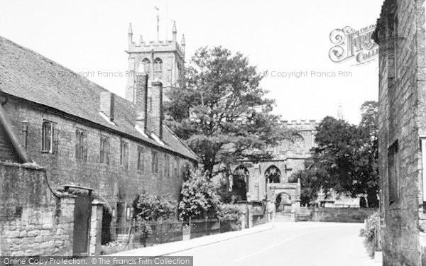 Photo of Martock, All Saints Church And Church House c.1955