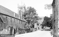 Martock, All Saints Church And Church House c.1955