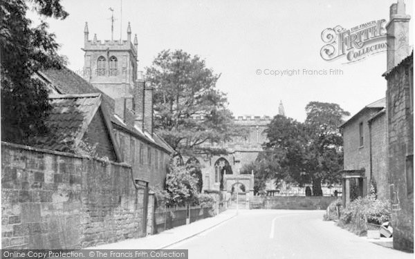 Photo of Martock, All Saints Church And Church House c.1955