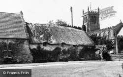 Martock, All Saints Church And Old Cottages c.1955