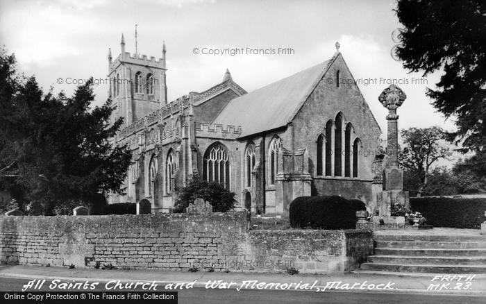 Photo of Martock, All Saints Church And War Memorial c.1955