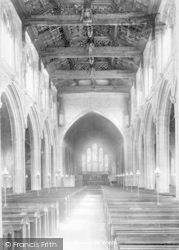 Martock, All Saints Church, Interior 1900