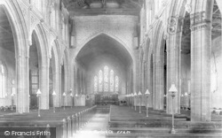Martock, All Saints Church, Interior 1900