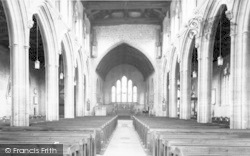 Martock, All Saints Church Interior c.1955