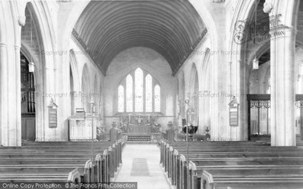 Photo of Martock, All Saints Church Interior c.1955