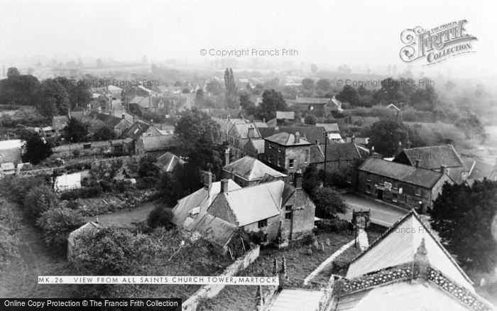 Photo of Martock, View From All Saints Church Tower c.1960