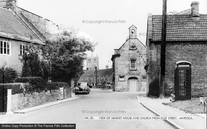 Photo of Martock, View Of Market Street And Church From East Street c.1960