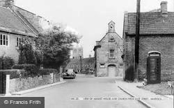 Martock, View Of Market Street And Church From East Street c.1960