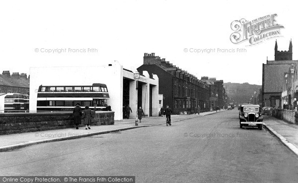 Maryport, the Bus Station c1955.  (Neg. m262001)  � Copyright The Francis Frith Collection 2008. http://www.francisfrith.com