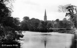 Masham, Church From The River 1927