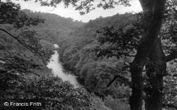 Masham, Hackfall, River Ure From The Look Out 1927