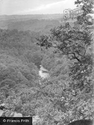 Masham, Hackfall, River Ure, View From Castle 1927