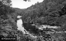 Masham, Hackfall, River Ure, View From Fisherman's Hut 1927