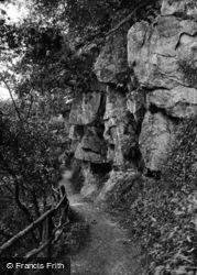 Masham, Hackfall, Rock Walk 1927
