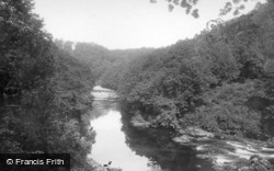 Hackfall, Up The River c.1885, Masham