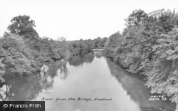 Masham, River From The Bridge c.1960