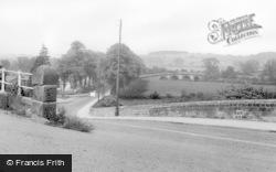 Masham, The Avenue And Bridge c.1960
