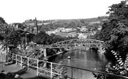 Matlock Bath, Jubilee Bridge c1955