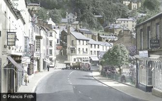 Matlock Bath, South Parade and the Heights of Abraham c1955