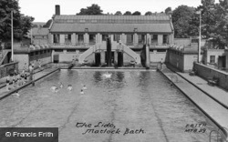 The Lido c.1955, Matlock Bath