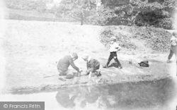 Children On River Bank c.1870, Matlock
