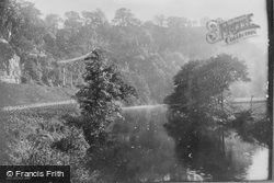 Matlock Bank, The View From The Footbridge 1886, Matlock