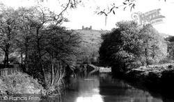 Riber Castle And River Derwent c.1955, Matlock