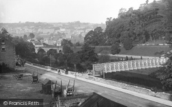 The Footbridge, Matlock Bank 1886, Matlock