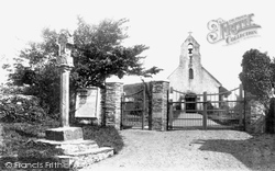St Maughold Church And Cross 1895, Maughold